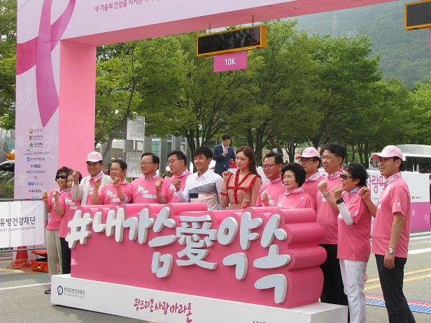 2016 핑크리본마라톤 참가